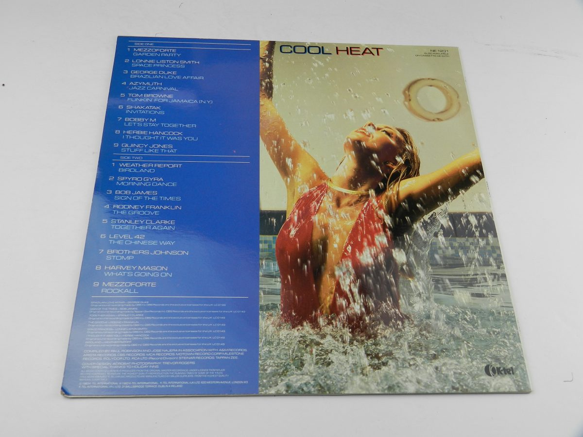Various – Cool Heat The Hottest • Jazziest • Coolest • Funkiest Hits vinyl record sleeve rear scaled
