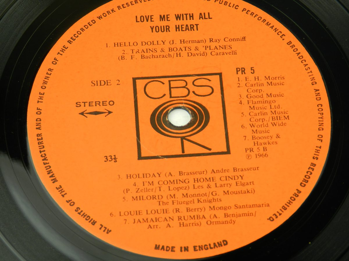 Various – Love Me With All Of Your Heart vinyl record side B label scaled