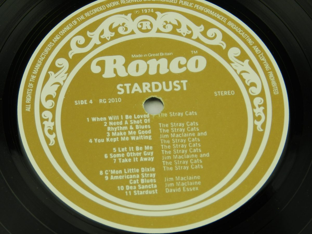 Various – Stardust 44 Original Hits From The Sound Track Of The Film vinyl record 2 side B label scaled