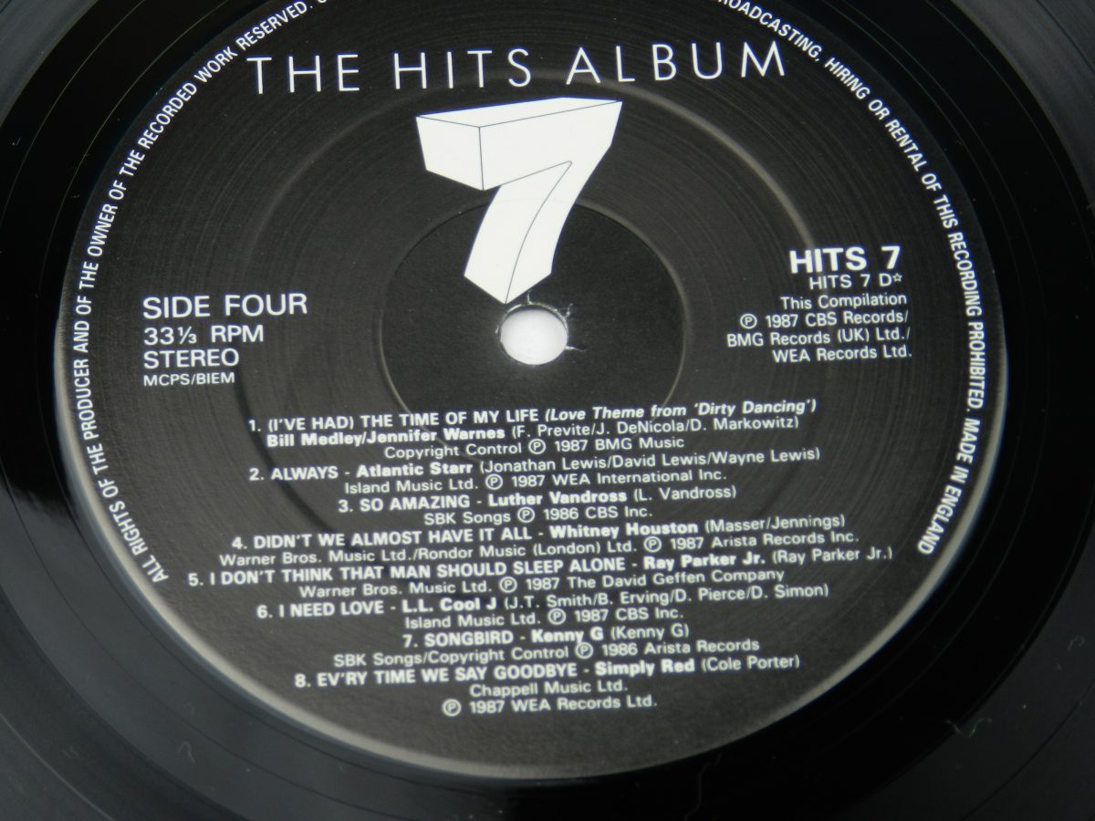 Various – The Hits Album 7 vinyl record 2 side B label scaled