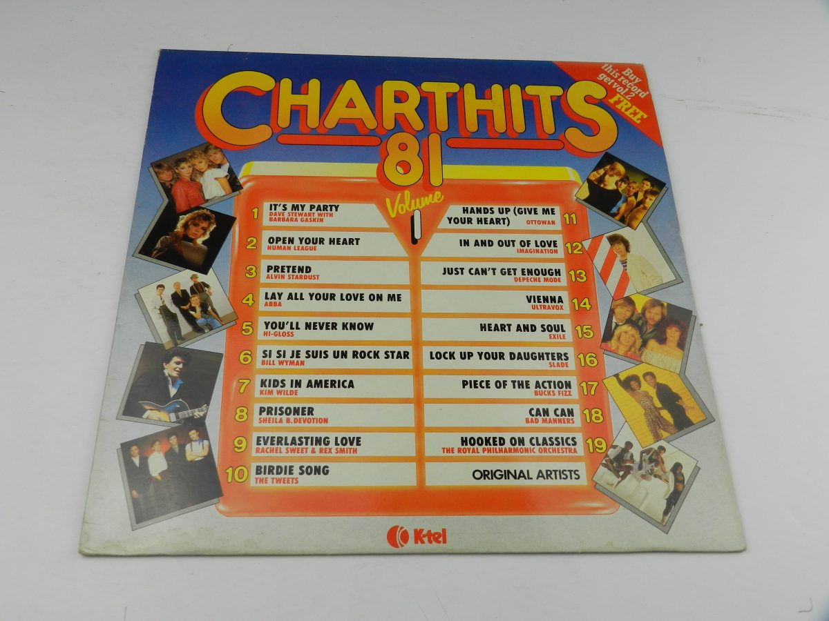 Various – Chart Hits 81 Volume 1 vinyl record sleeve scaled