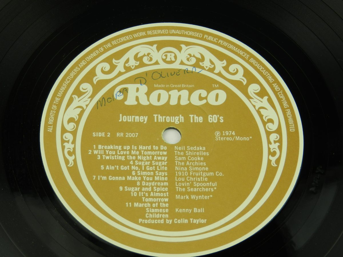 Various – Journey Through The 60s vinyl record side B label scaled