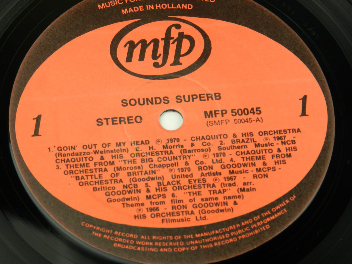 Various – Sounds Superb vinyl record side A label scaled