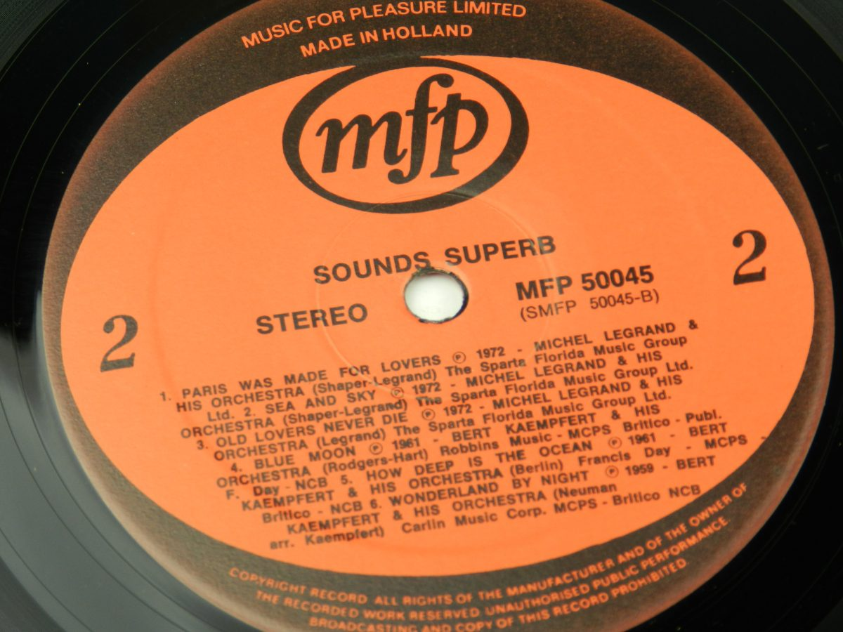 Various – Sounds Superb vinyl record side B label scaled