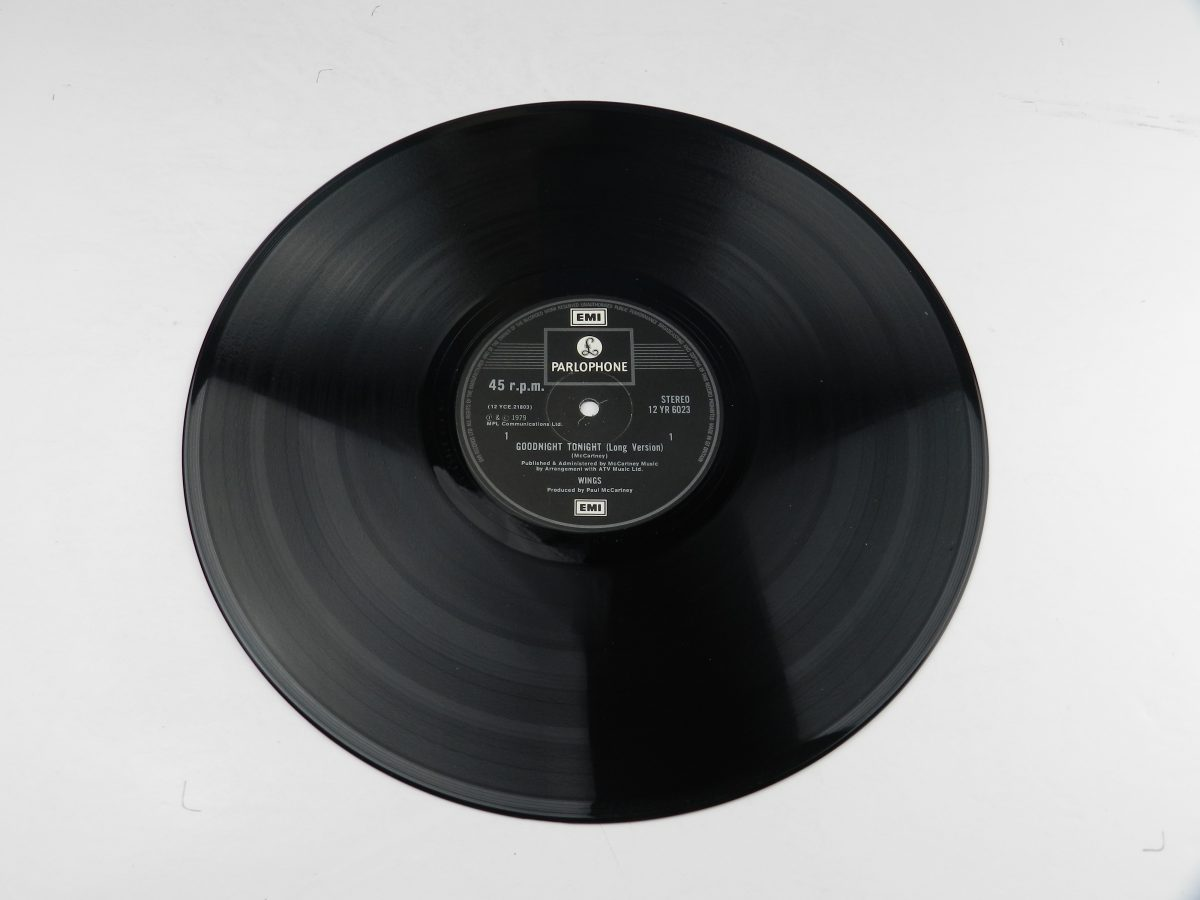 Wings – Goodnight Tonight vinyl record side A scaled