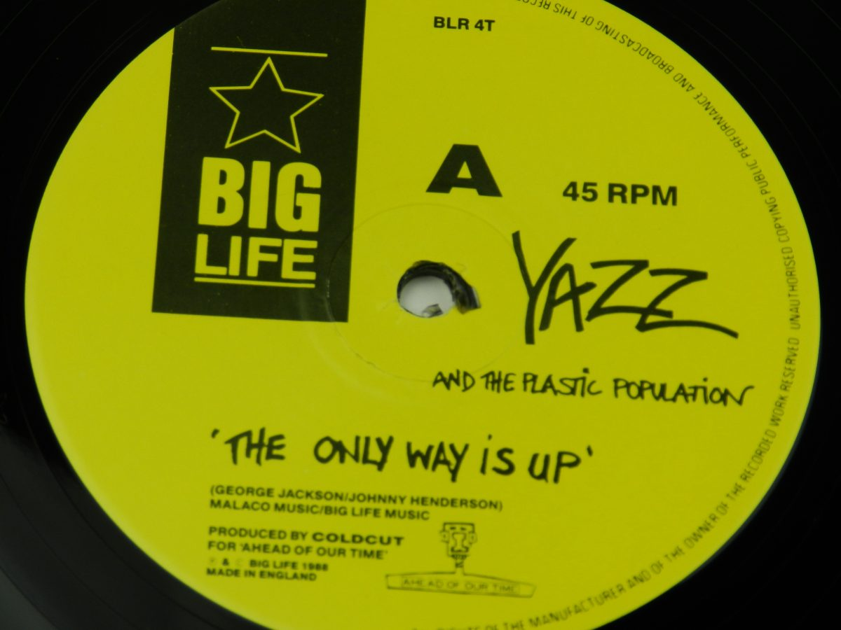Yazz And The Plastic Population – The Only Way Is Up vinyl record side A label scaled