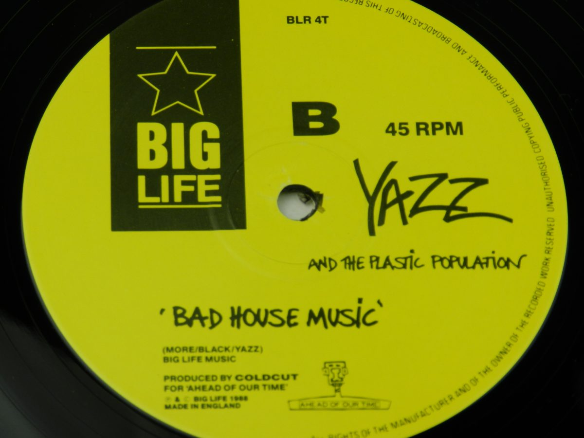 Yazz And The Plastic Population – The Only Way Is Up vinyl record side B label scaled