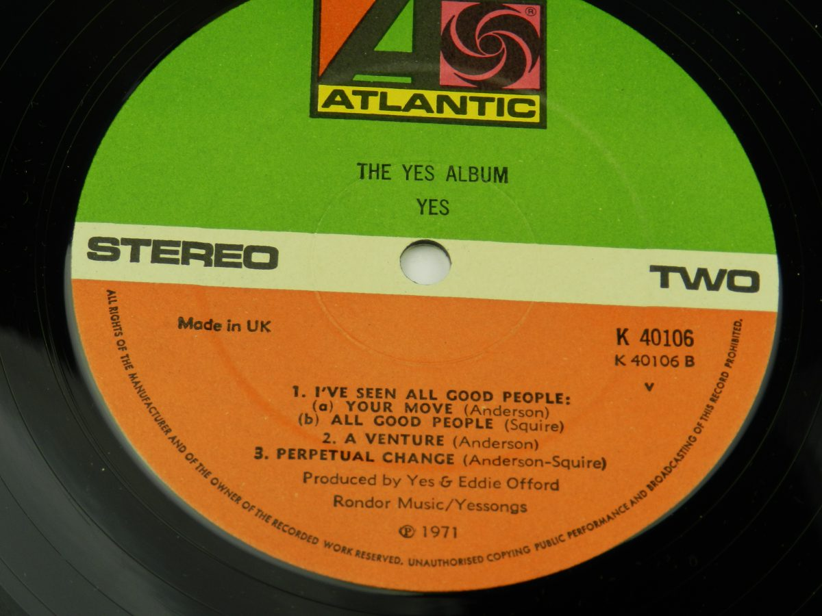 Yes – The Yes Album vinyl record side B label scaled