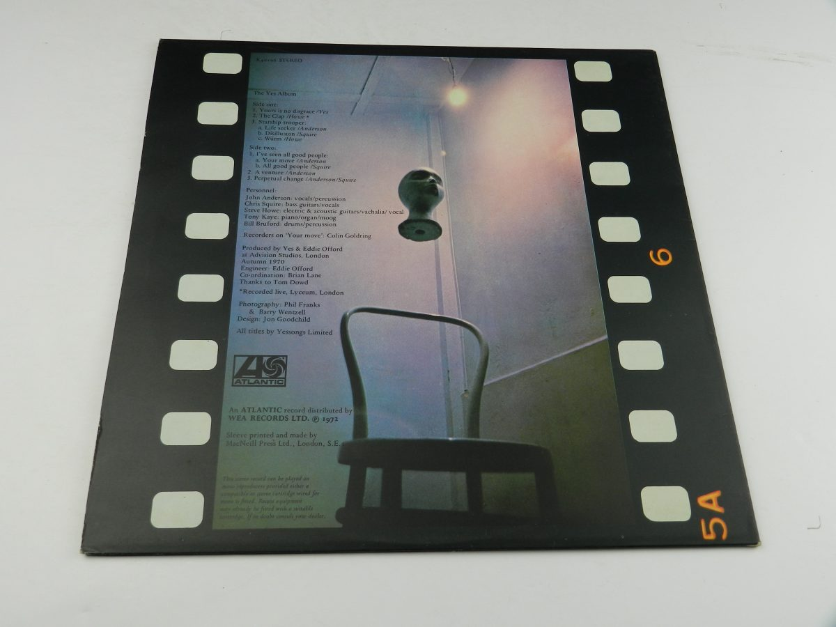 Yes – The Yes Album vinyl record sleeve rear scaled