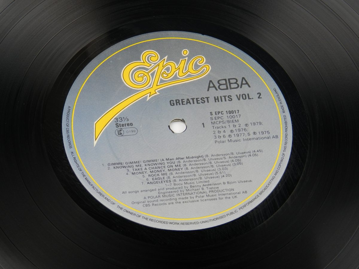 ABBA – Greatest Hits Vol. 2 vinyl record side A label scaled
