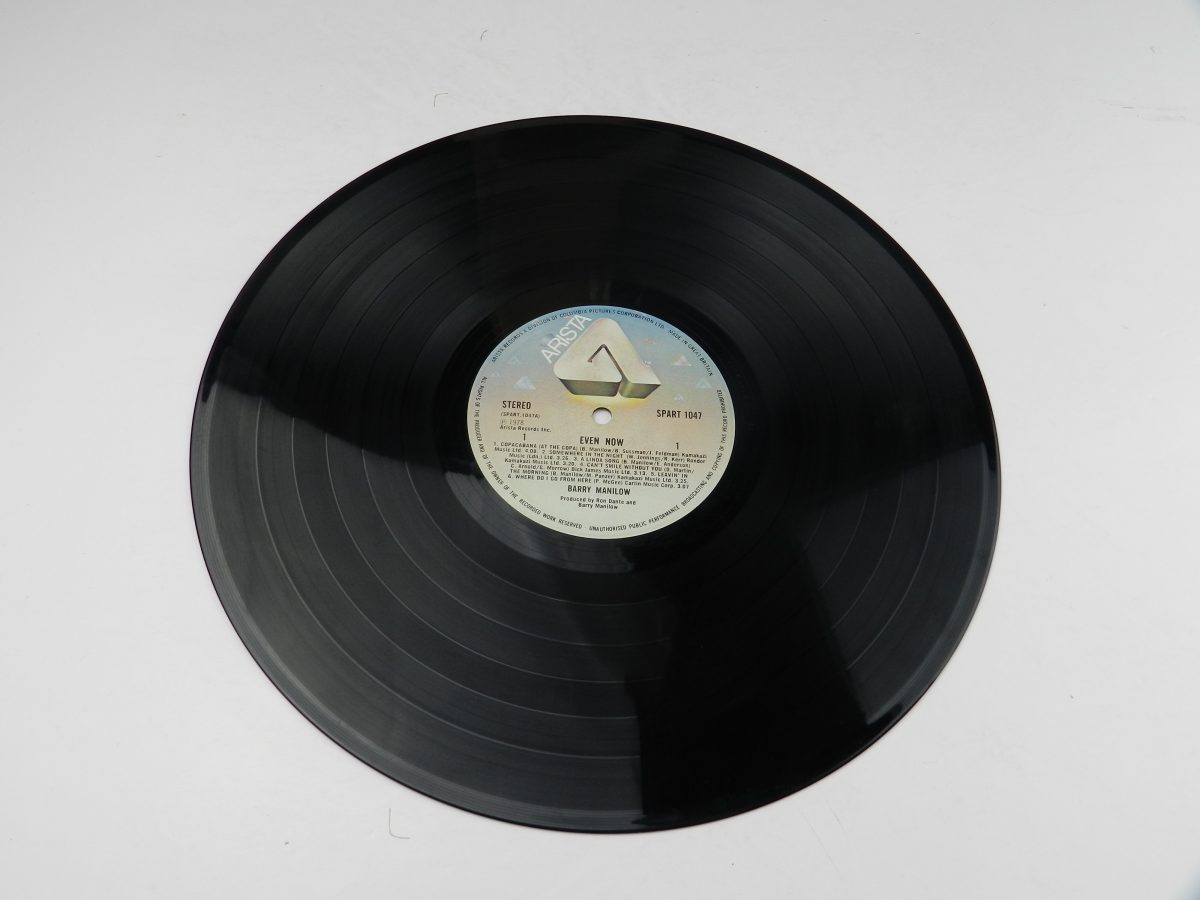 Barry Manilow – Even Now vinyl record side A scaled
