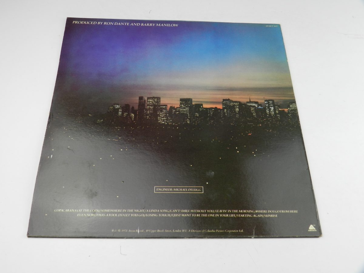 Barry Manilow – Even Now vinyl record sleeve rear scaled
