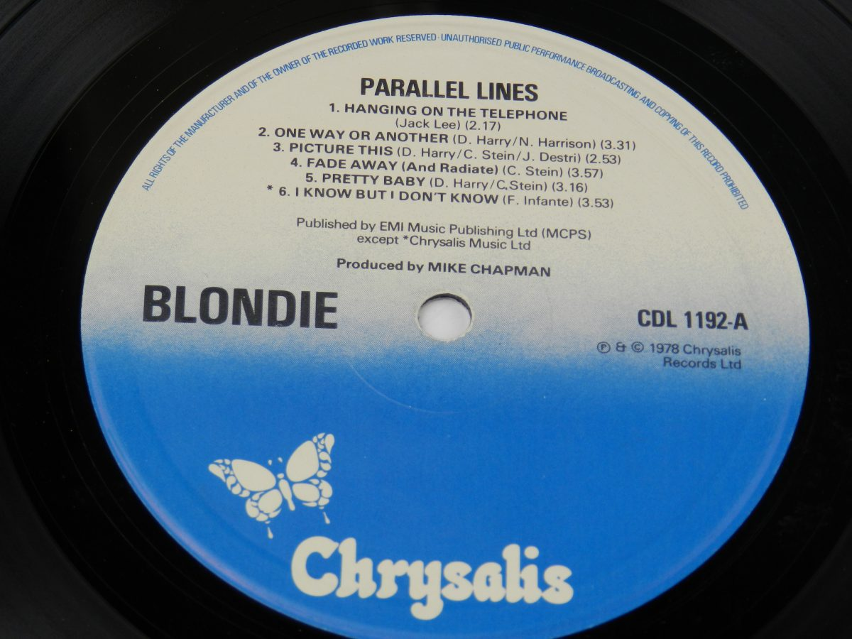 Blondie – Parallel Lines vinyl record side A label scaled