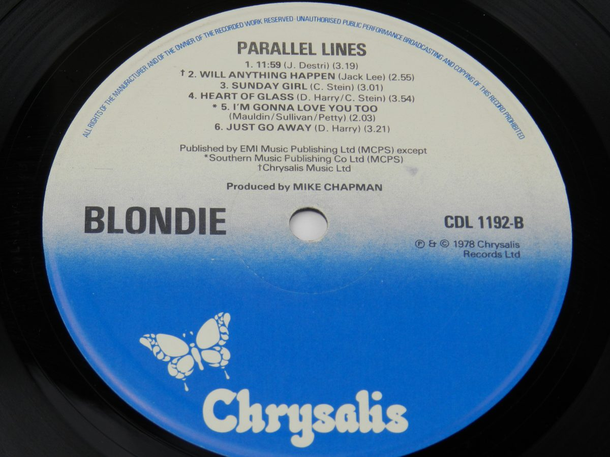 Blondie – Parallel Lines vinyl record side B label scaled