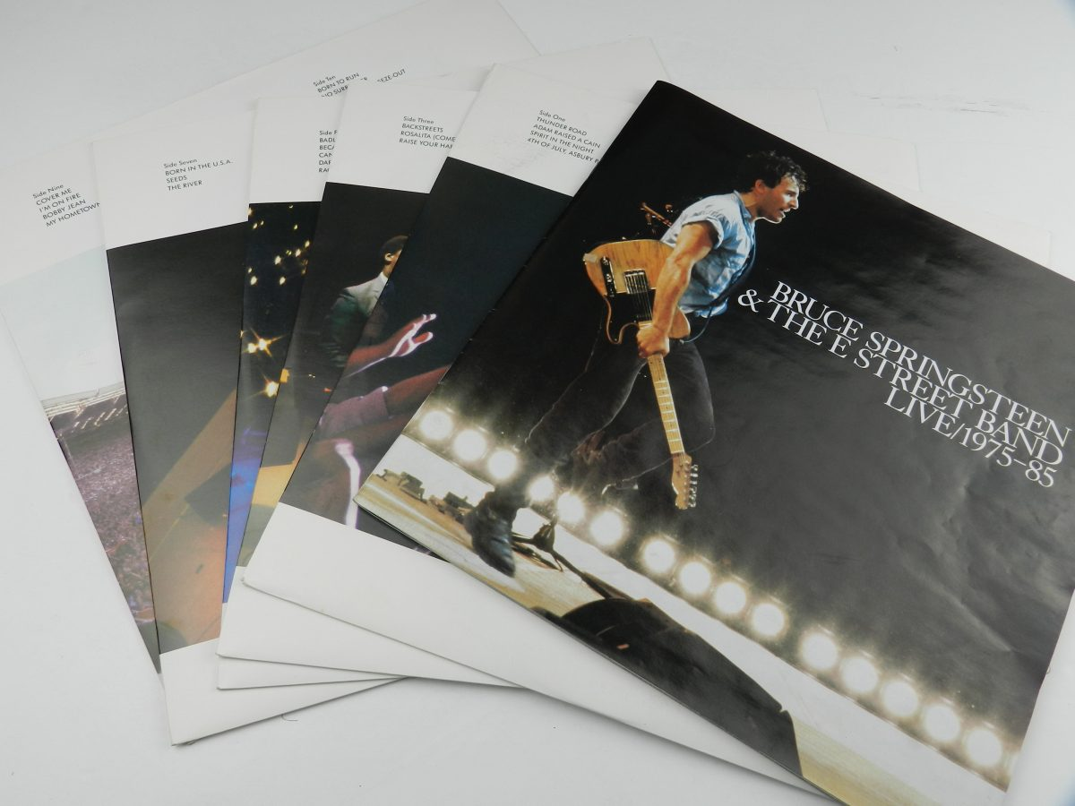 Bruce Springsteen The E Street Band – Live 1975 85 vinyl records and booklet scaled