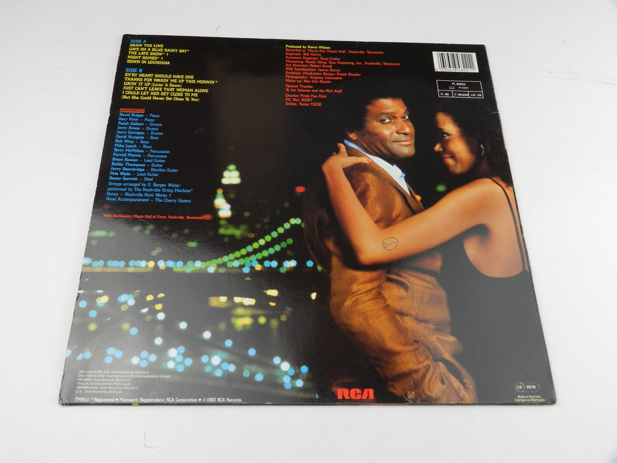 Charley Pride – Night Games vinyl record sleeve rear scaled