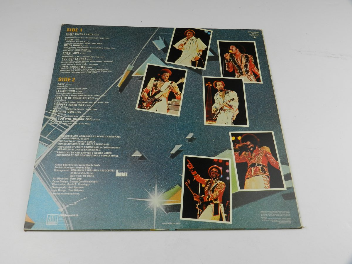 Commodores – Greatest Hits vinyl record sleeve rear scaled