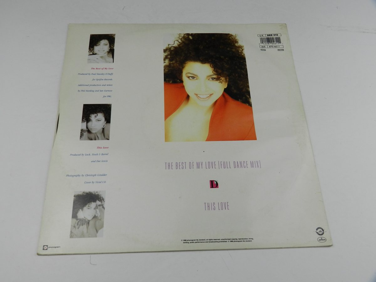 Dee Lewis – The Best Of My Love vinyl record sleeve rear scaled
