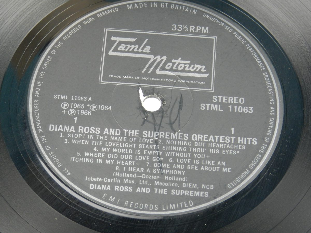 Diana Ross And The Supremes – Greatest Hits vinyl record side A label scaled