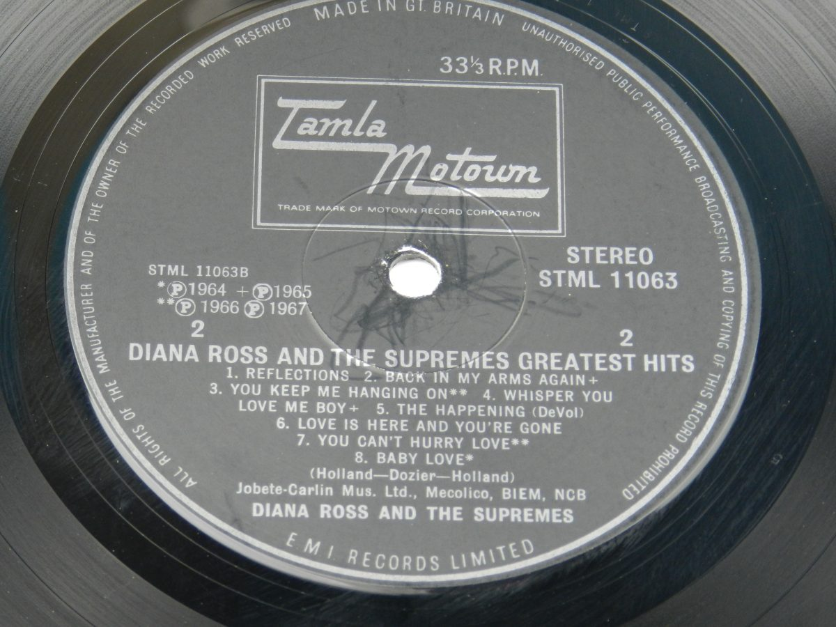 Diana Ross And The Supremes – Greatest Hits vinyl record side B label scaled