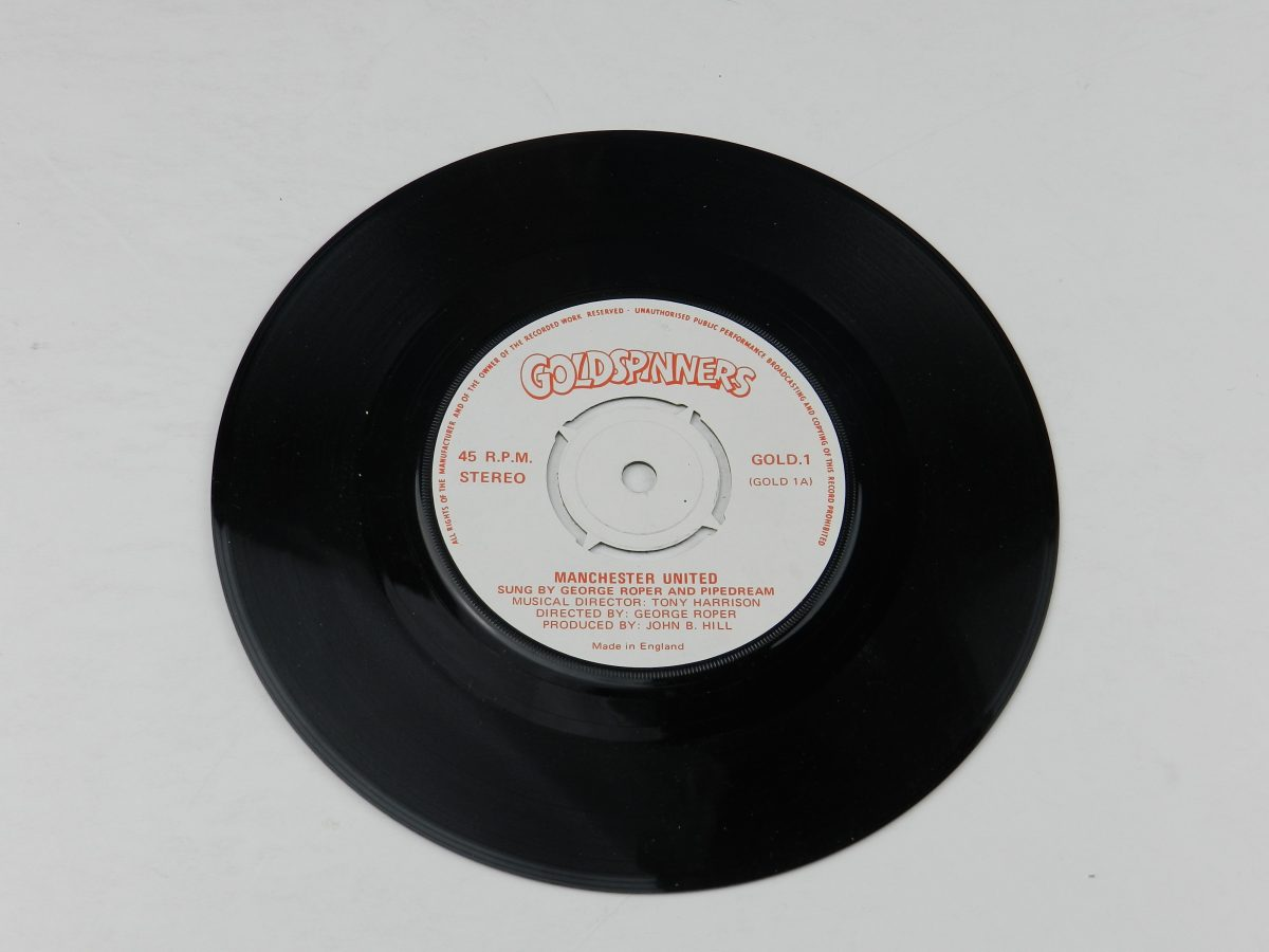 George Roper and Pipedream – Manchester United vinyl record side A scaled