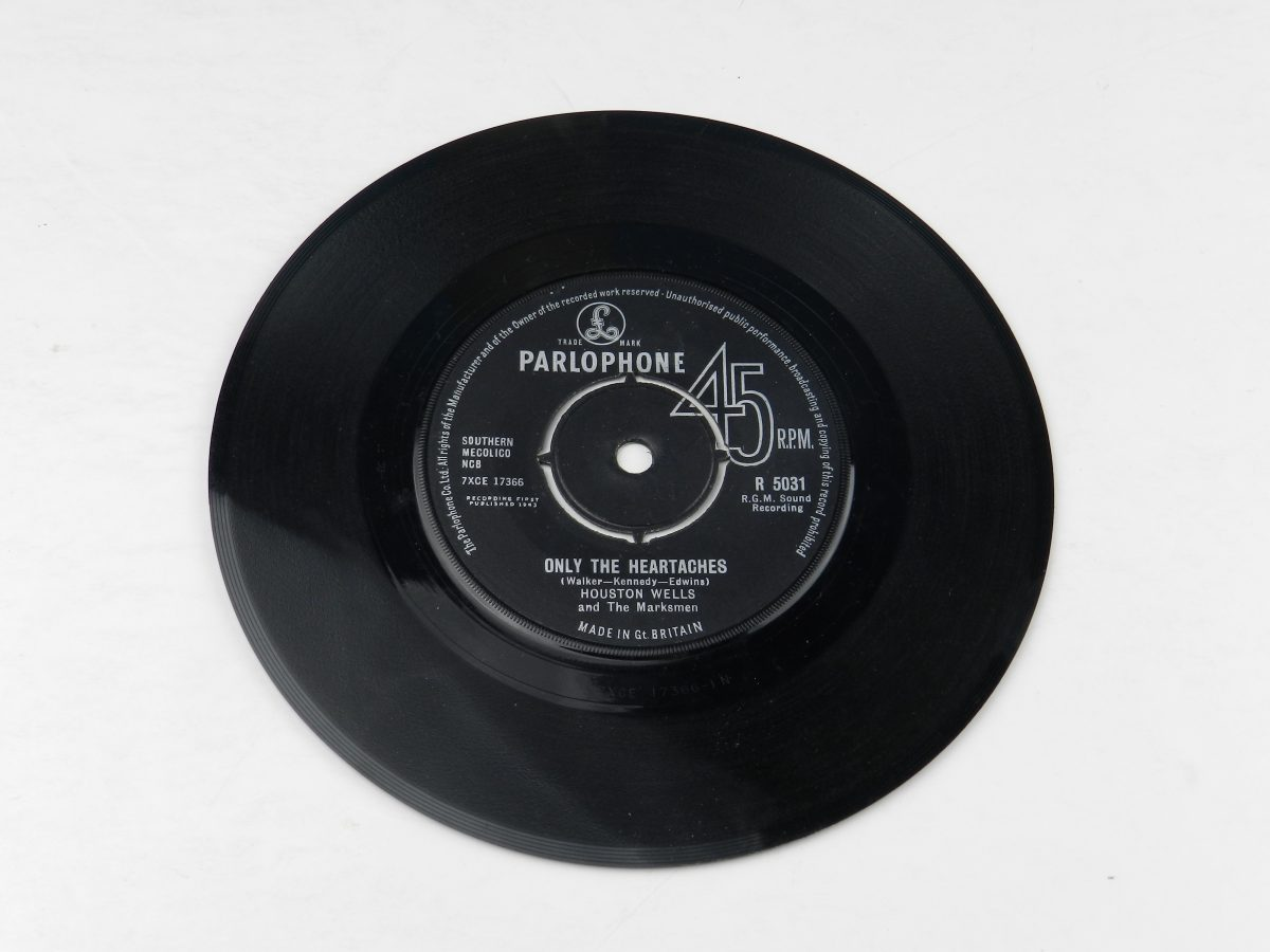 Houston Wells And The Marksmen – Only The Heartaches vinyl record side A scaled