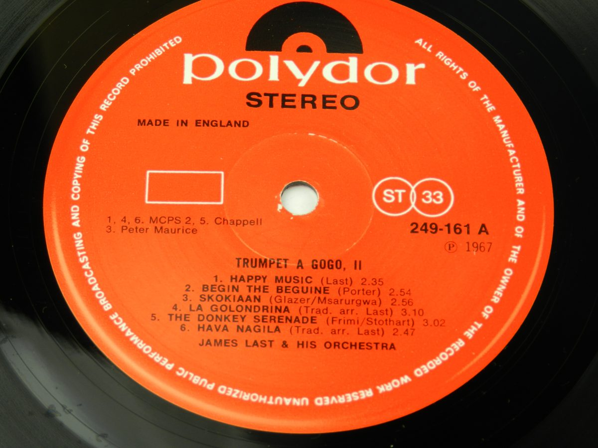 James Last – Trumpet A Gogo 2 vinyl record side A label scaled