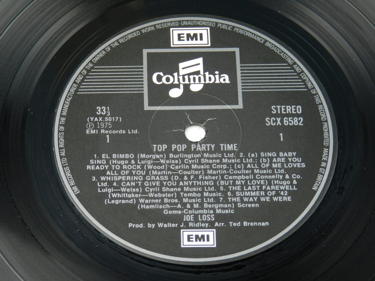 Joe Loss – Top Pop Party Time vinyl record side A label scaled