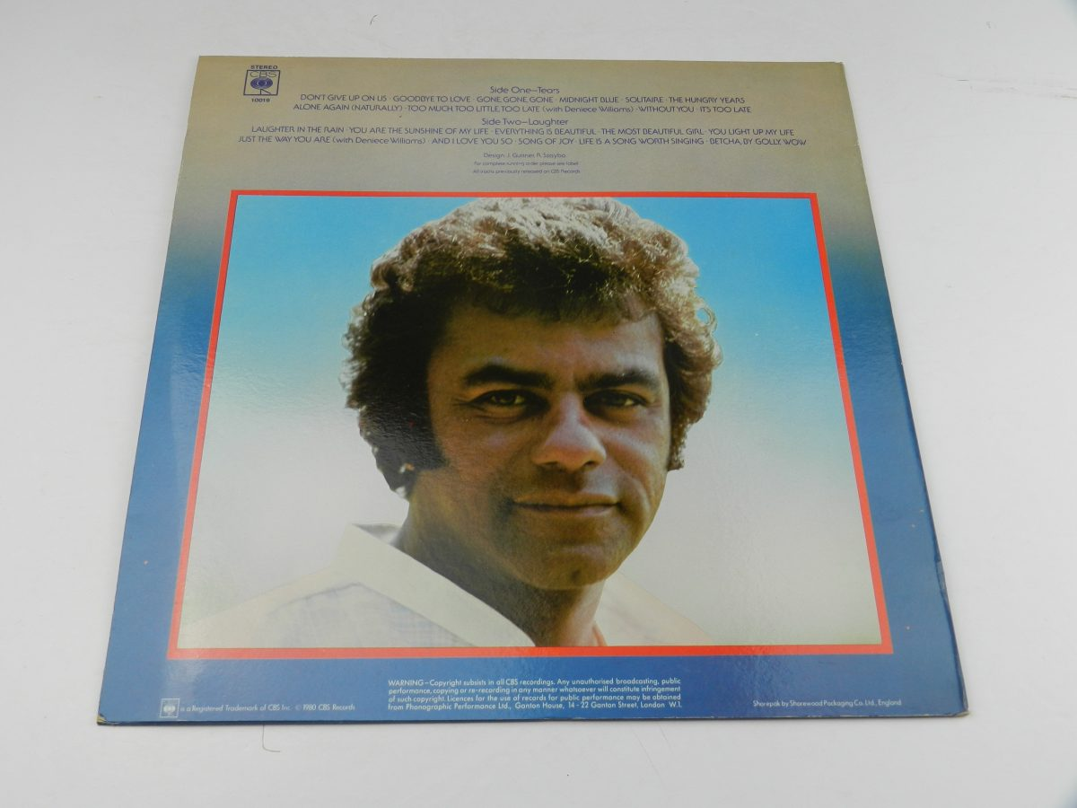 Johnny Mathis – Tears And Laughter vinyl record sleeve rear scaled