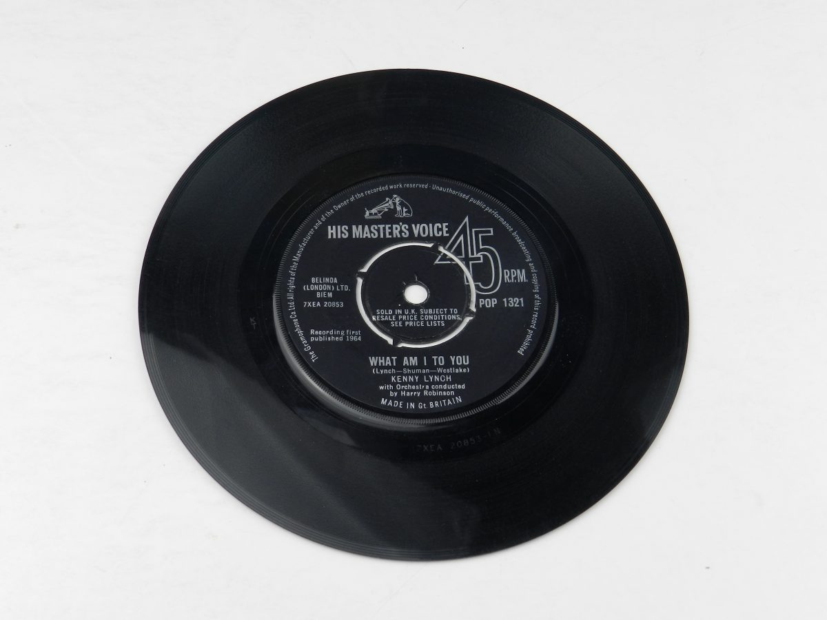Kenny Lynch – What Am I To You vinyl record side A scaled