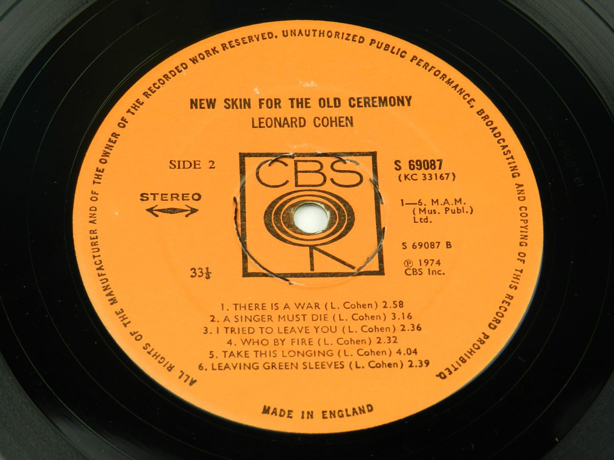 Leonard Cohen – New Skin For The Old Ceremony vinyl record side B label scaled