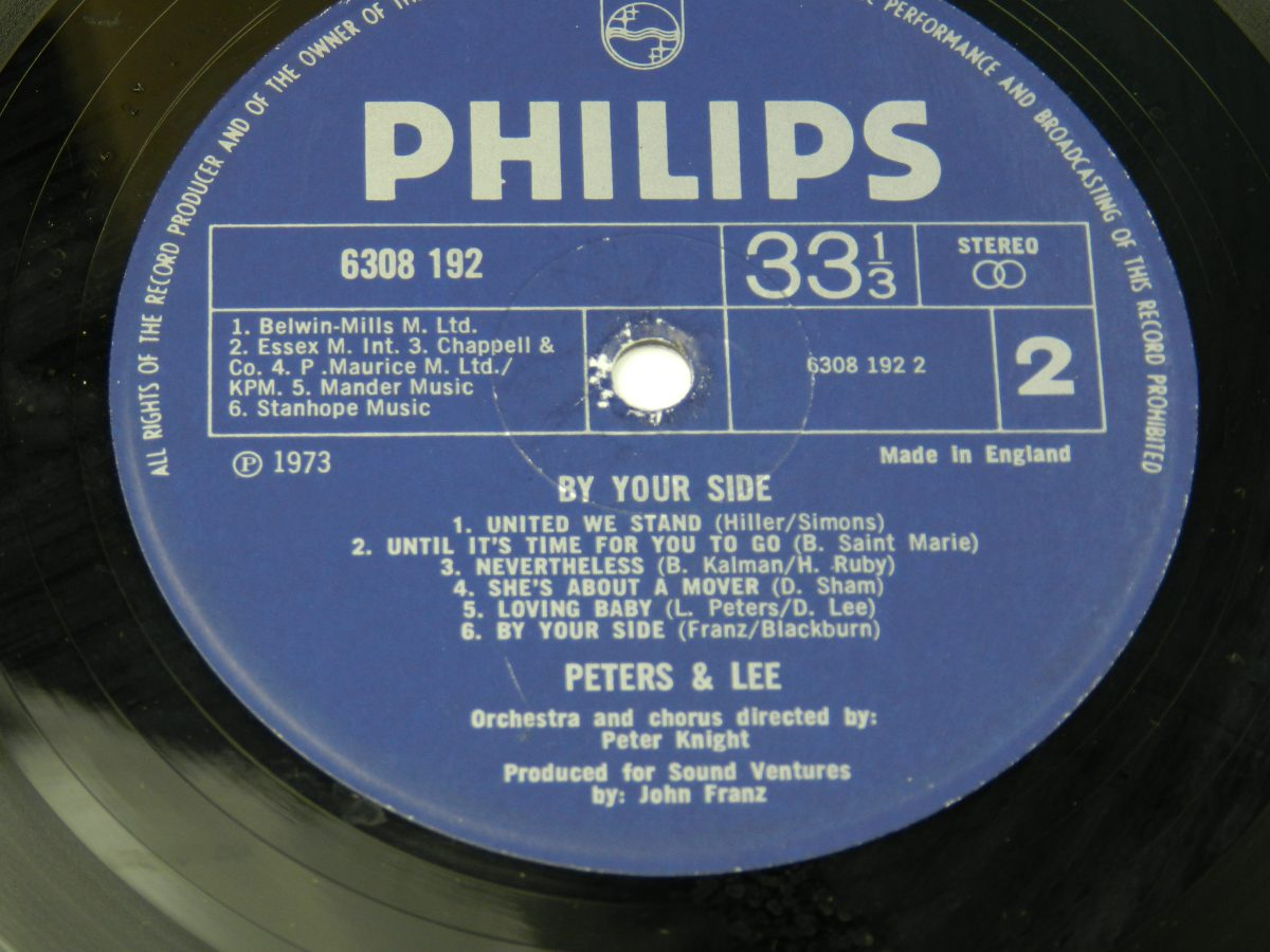 Peters Lee – By Your Side vinyl record side B label scaled