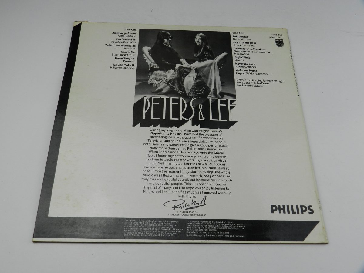 Peters Lee – We Can Make It vinyl record sleeve rear scaled