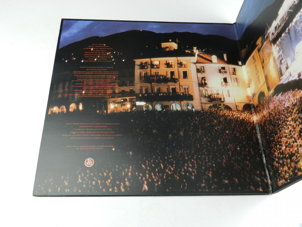 Simple Minds – Live In The City Of Light vinyl record sleeve gatefold 1 scaled