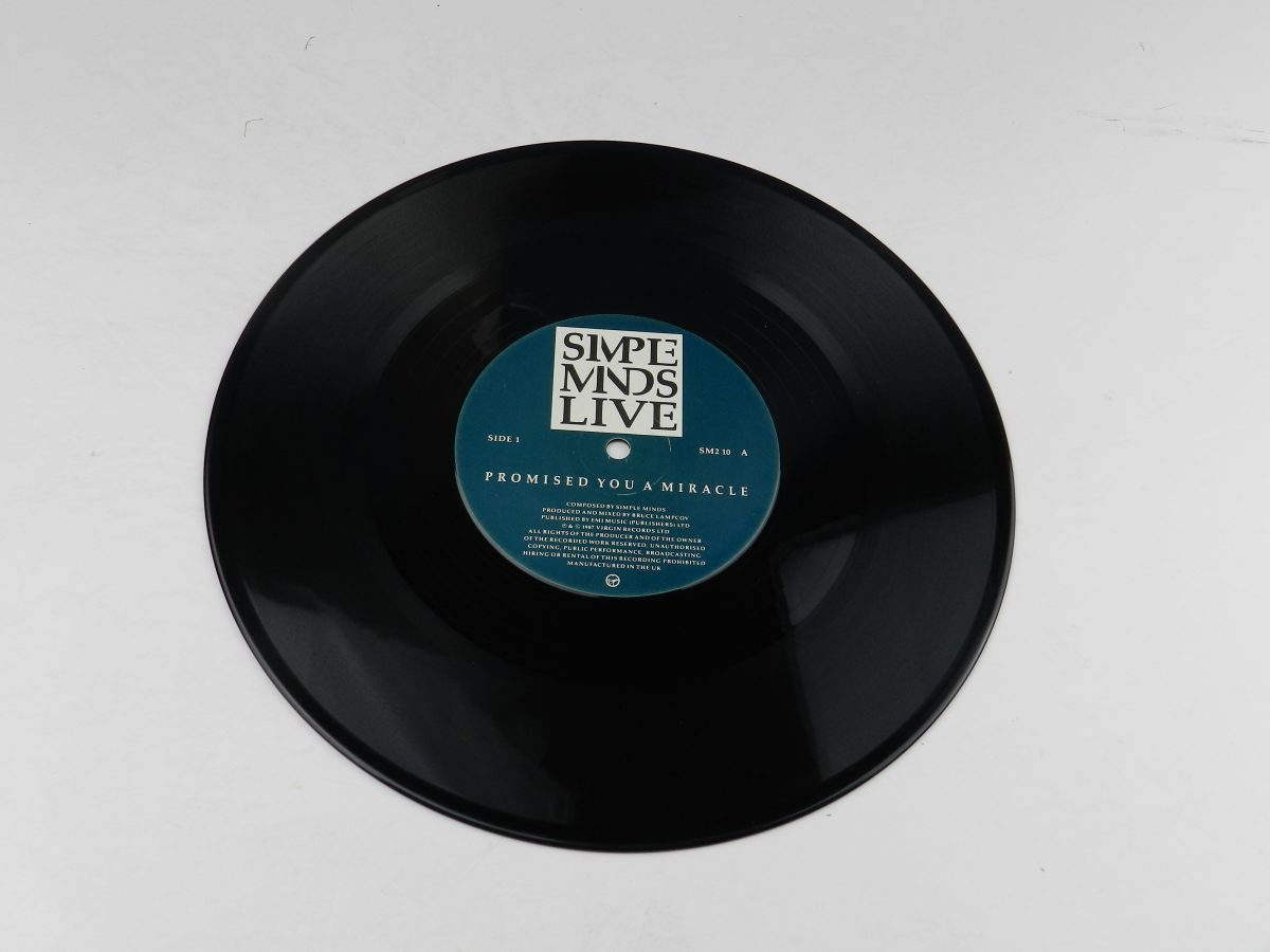 Simple Minds – Promised You A Miracle Book Of Brilliant Things Simple Minds Live vinyl record side A scaled