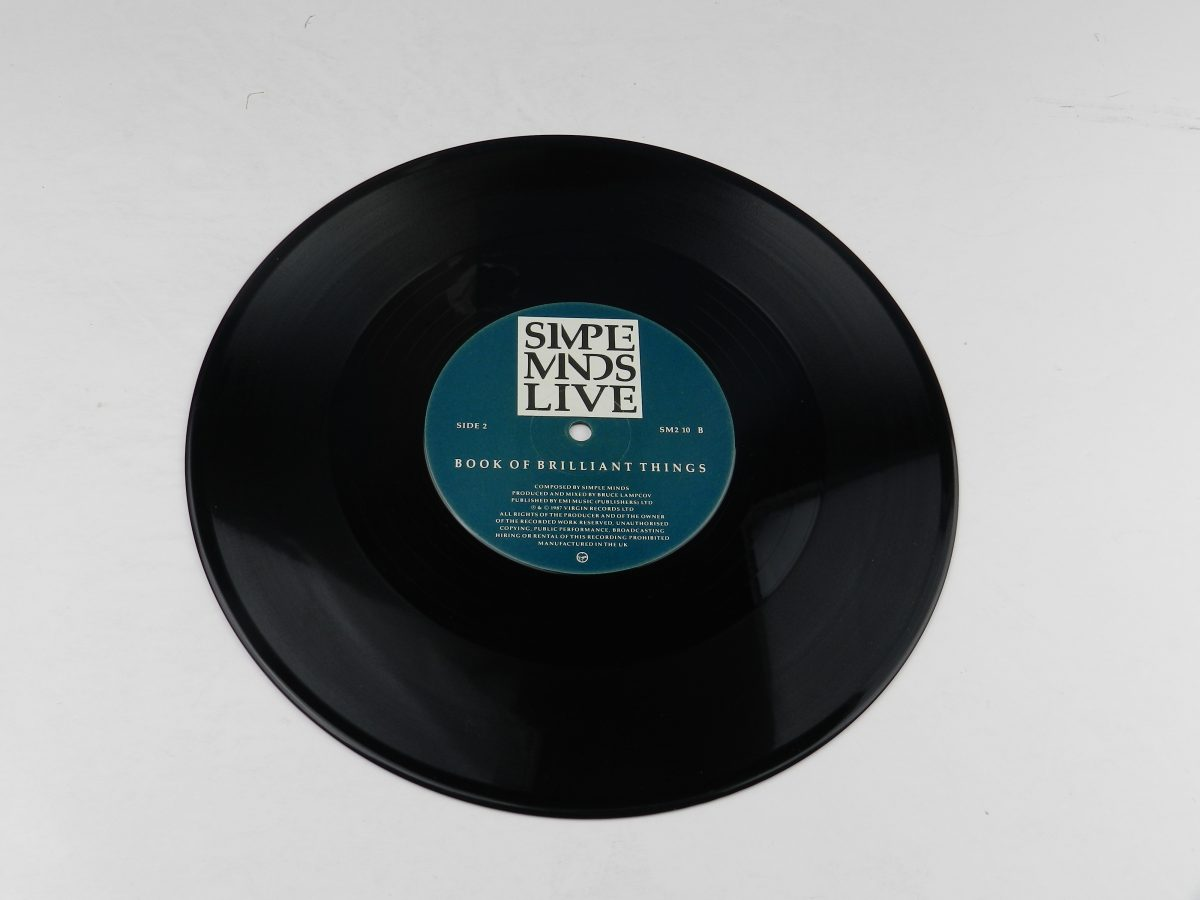 Simple Minds – Promised You A Miracle Book Of Brilliant Things Simple Minds Live vinyl record side B scaled
