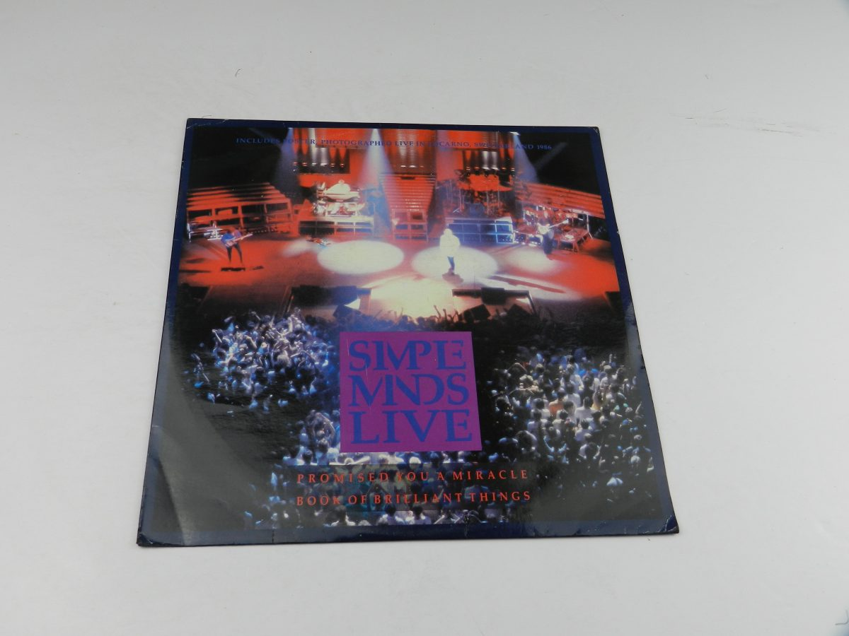 Simple Minds – Promised You A Miracle Book Of Brilliant Things Simple Minds Live vinyl record sleeve scaled