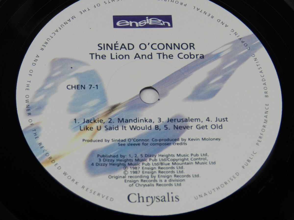 Sinead OConnor – The Lion And The Cobra vinyl record side A label scaled