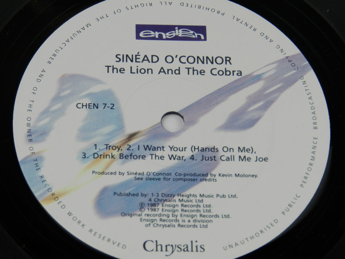 Sinead OConnor – The Lion And The Cobra vinyl record side B label scaled