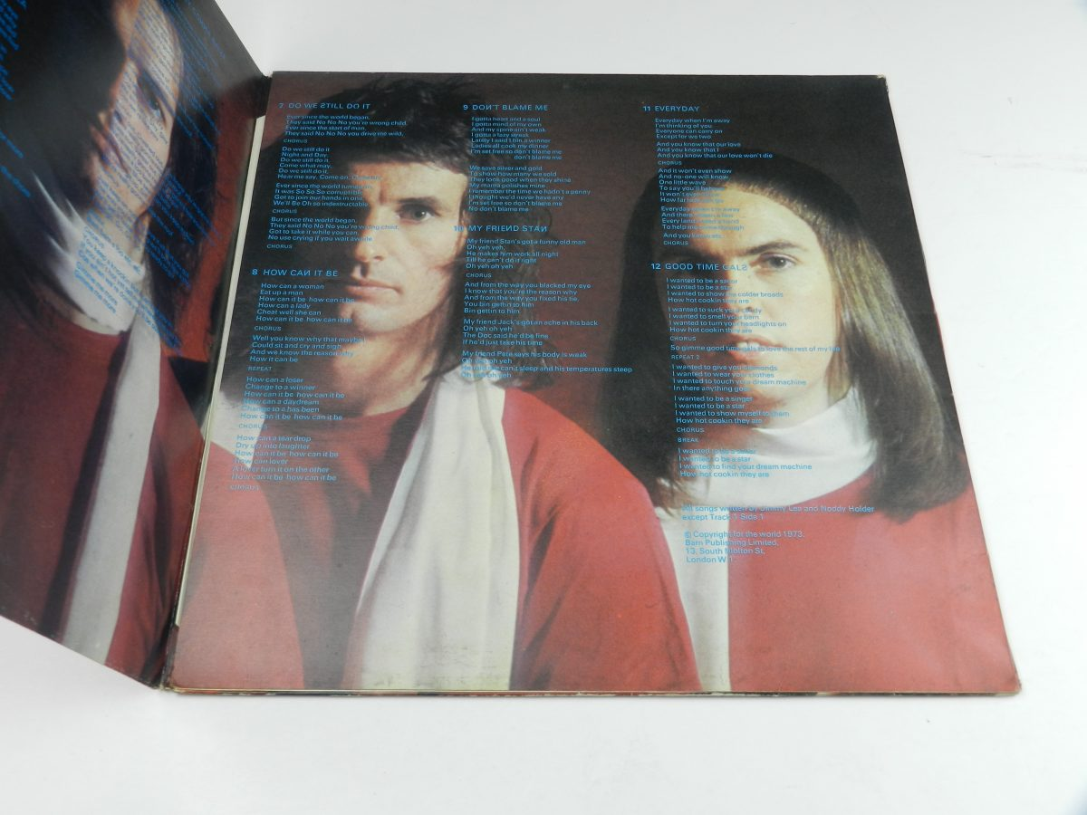 Slade – Old New Borrowed And Blue vinyl record sleeve gatefold 2 scaled