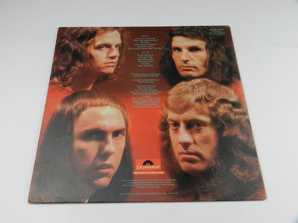 Slade – Old New Borrowed And Blue vinyl record sleeve rear scaled