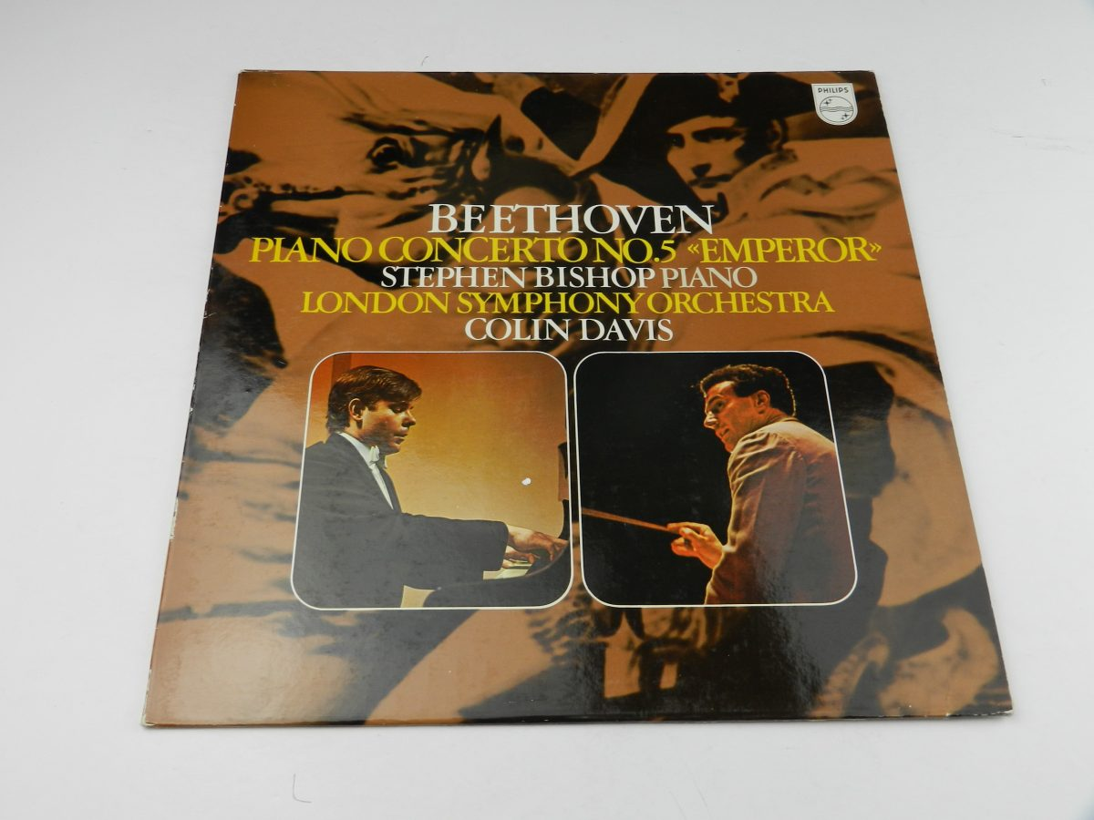 Stephen Bishop Colin Davis London Symphony Orchestra – Beethoven Piano Concerto No. 5 In E Flat Op. 73 Emperor vinyl record sleeve scaled