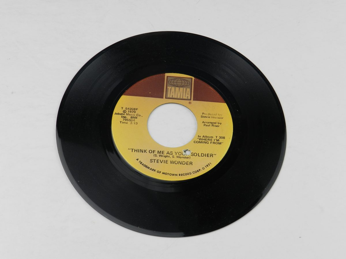 Stevie Wonder – If You Really Love Me Think Of Me As Your Soldier vinyl record side B scaled