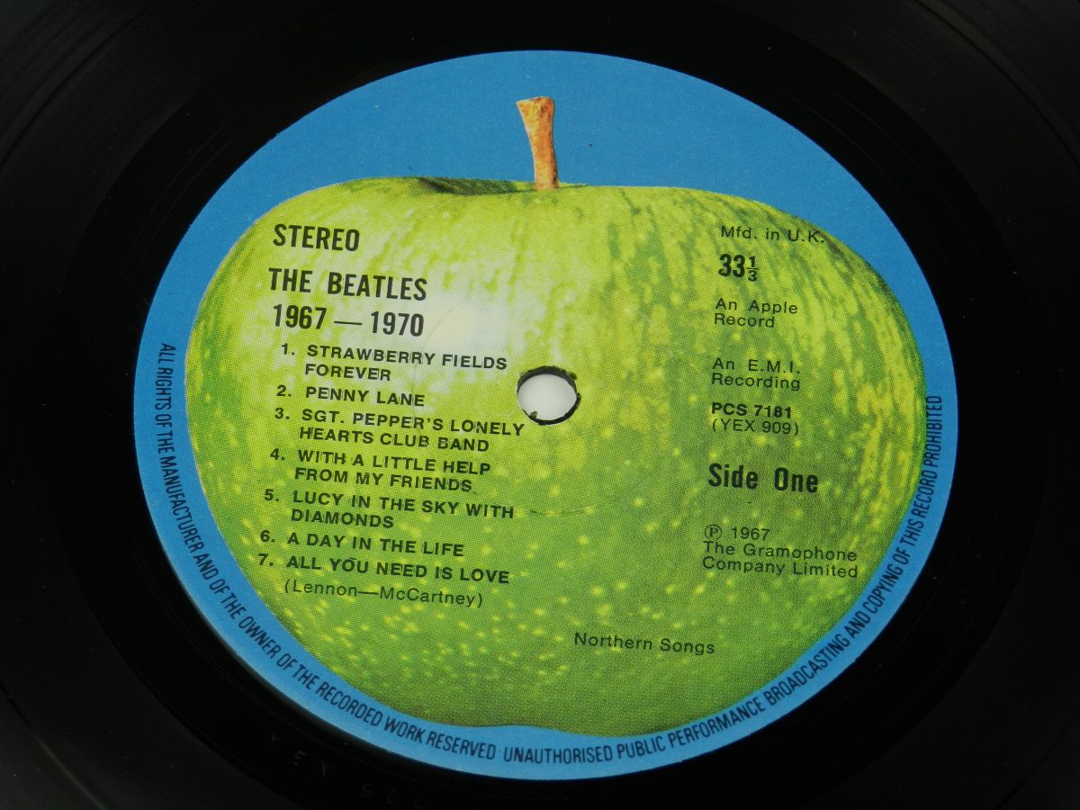 The Beatles – 1967 1970 vinyl record 1 side A label scaled