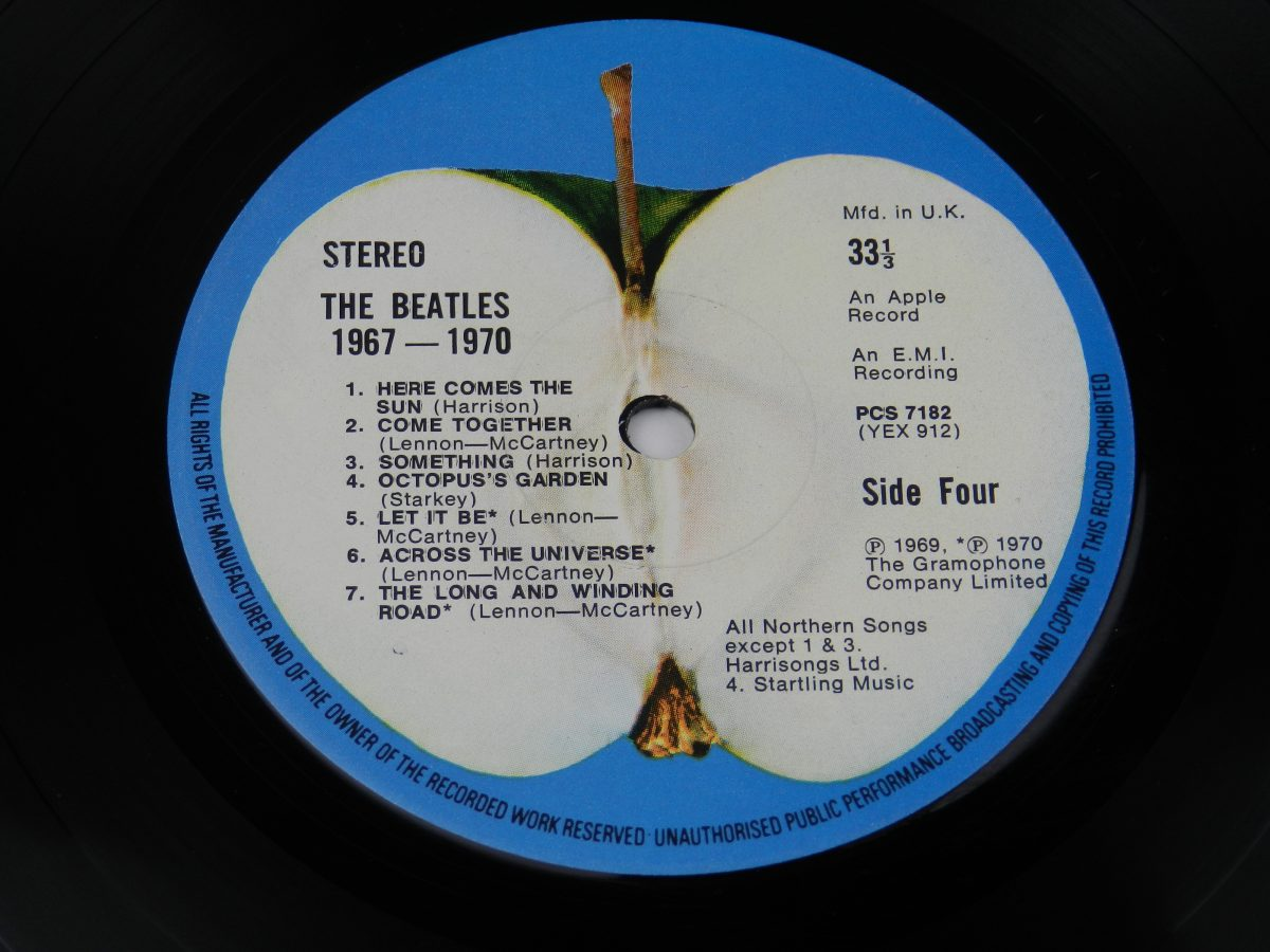 The Beatles – 1967 1970 vinyl record 2 side B label scaled