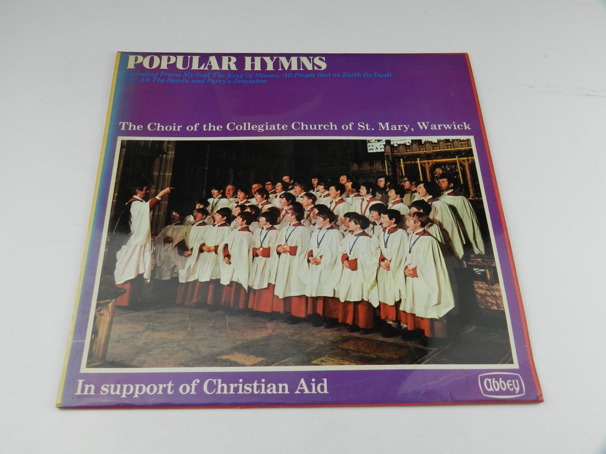 The Choir Of The Collegiate Church Of St Mary Warwick – 18 Popular Hymns vinyl record sleeve scaled