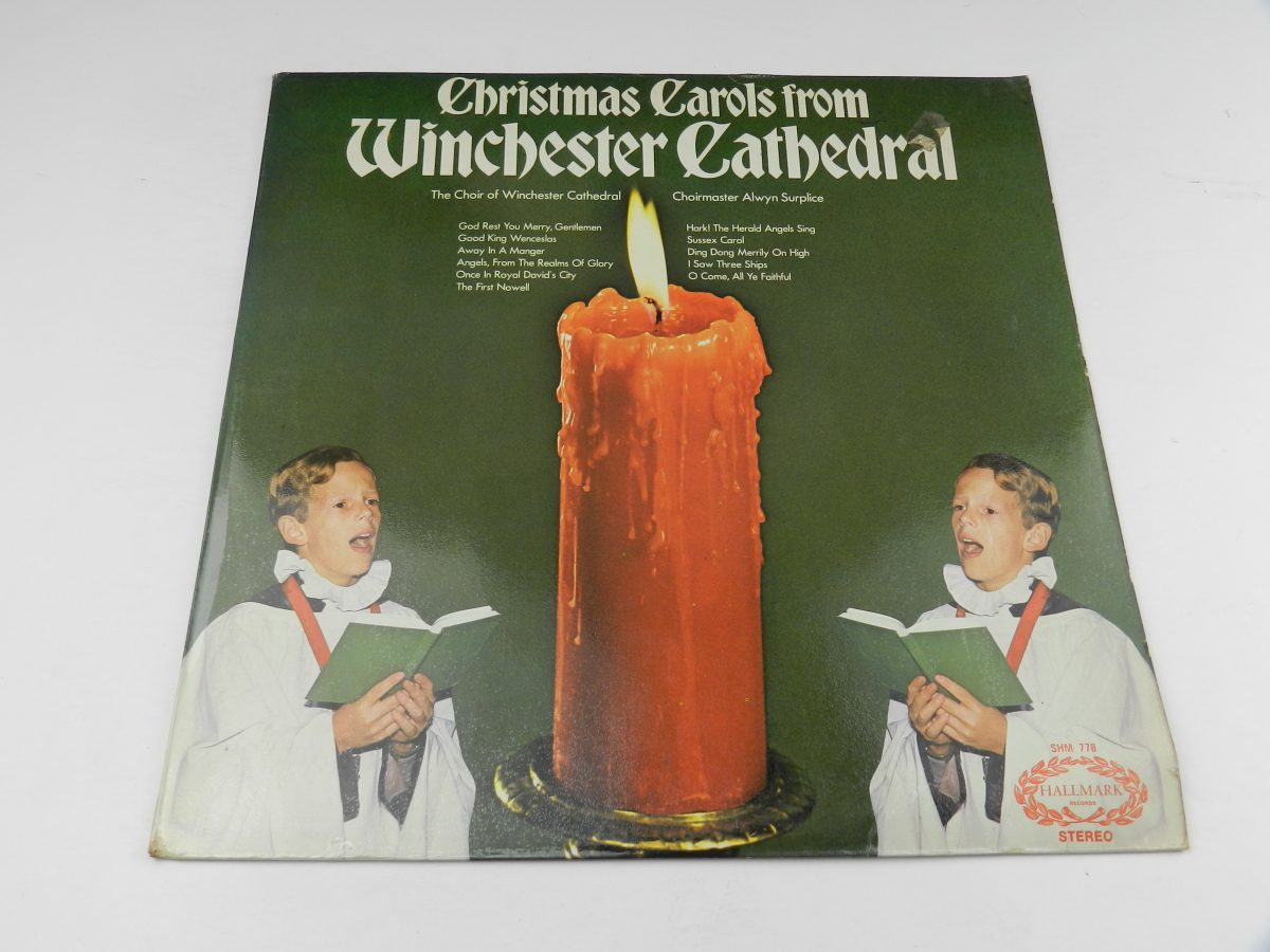 The Choir Of Winchester Cathedral – Christmas Carols From Winchester Cathedral vinyl record sleeve scaled