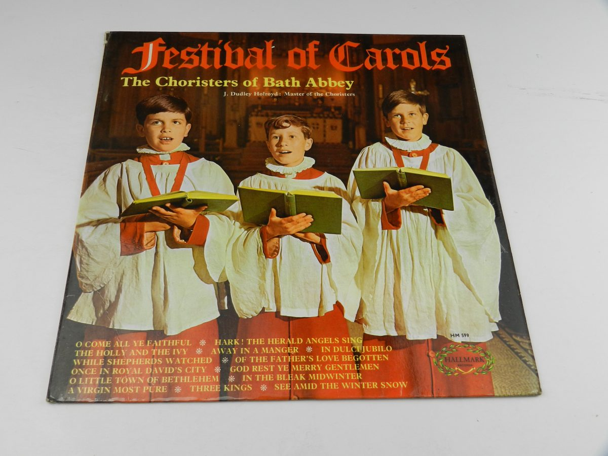 The Choristers Of Bath Abbey Master of the Choristers J. Dudley Holroyd – Festival Of Carols vinyl record sleeve scaled