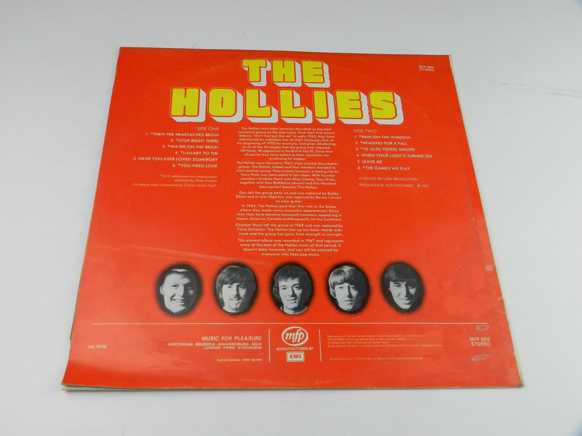 The Hollies – The Hollies vinyl record sleeve rear scaled