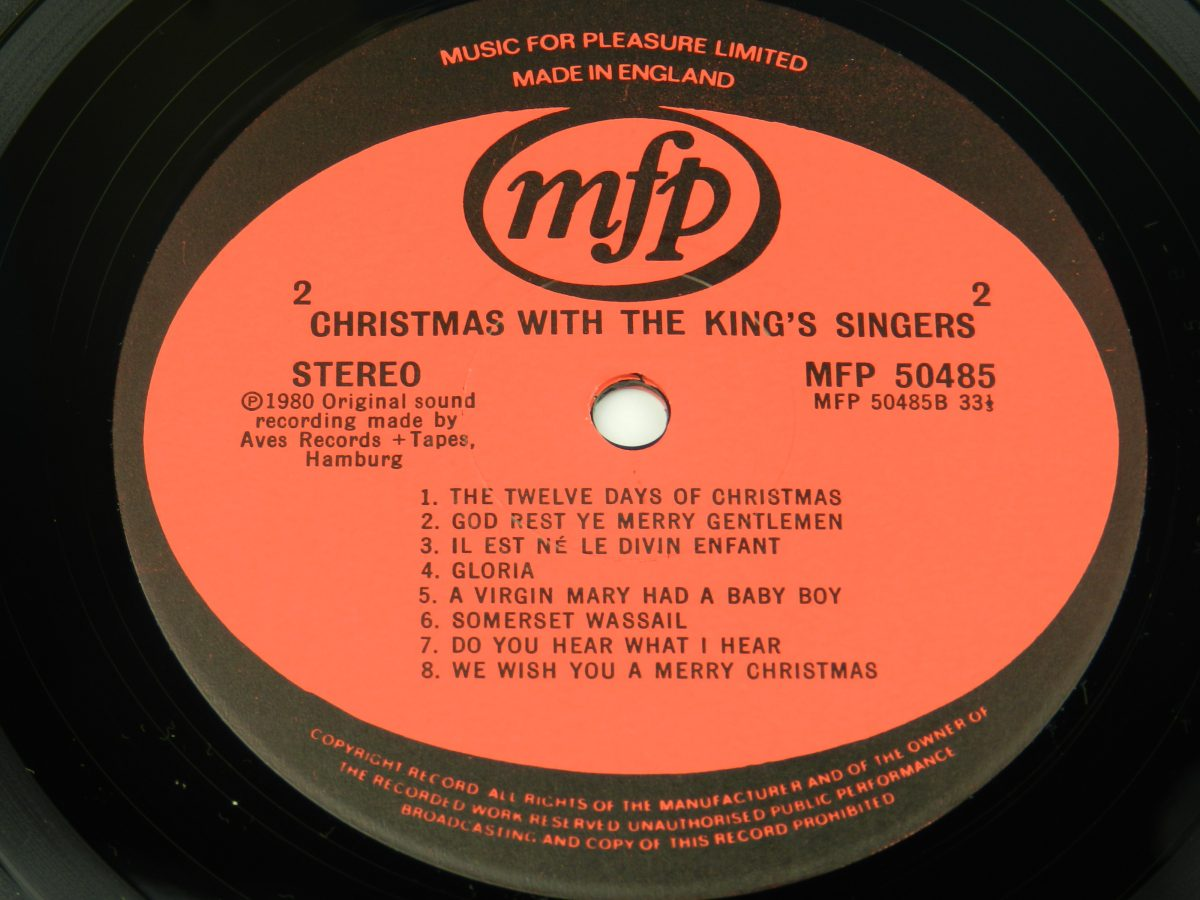 The Kings Singers – Christmas With The Kings Singers vinyl record side B label scaled